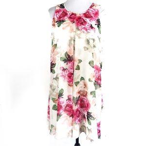 Calvin Klein Floral Print Dress, Size 12 Women's